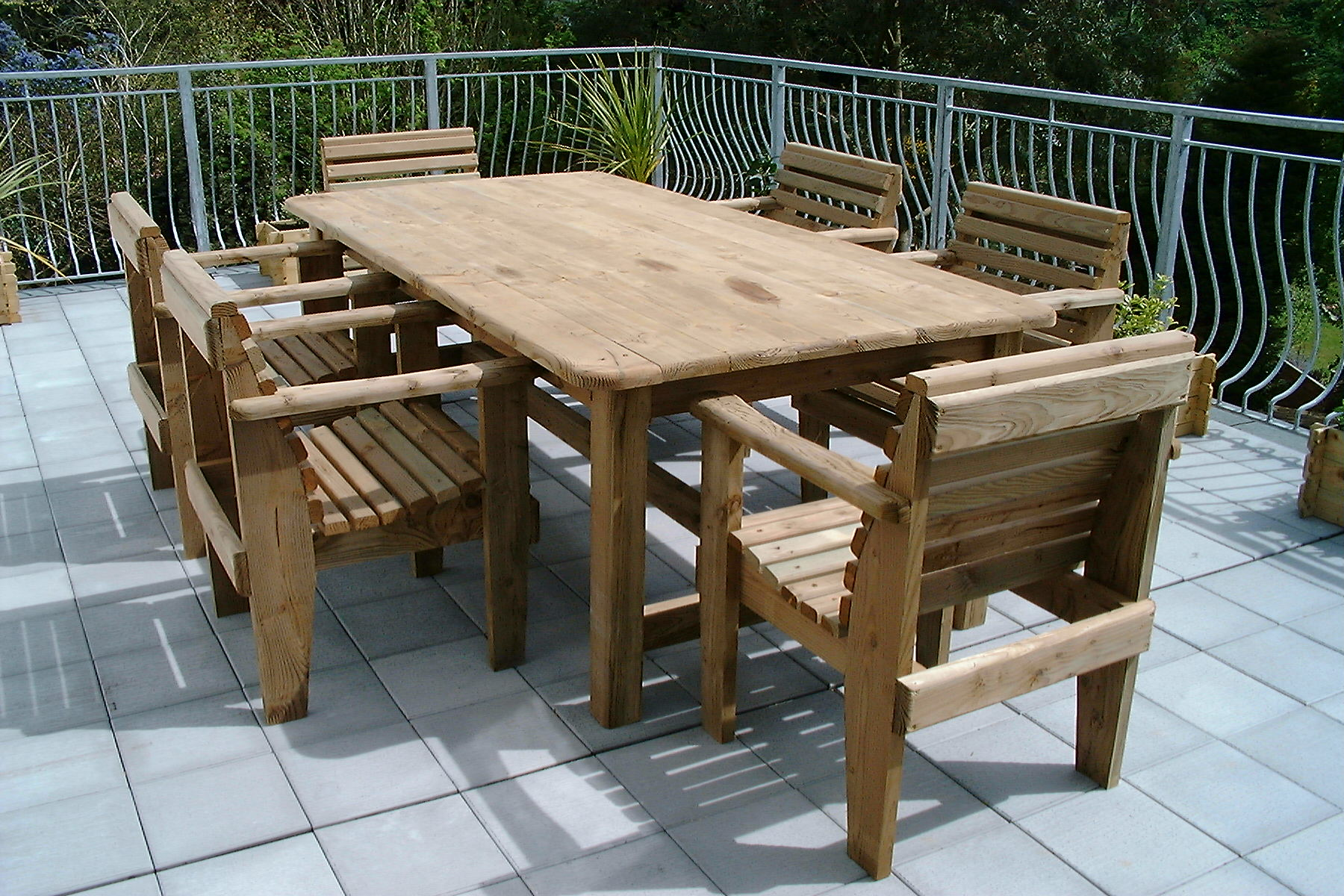 Garden Furniture : 8X4TABLECHAIRS03 from www.trurosawmills.com size 1800 x 1200 jpeg 491kB